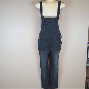 Free people grey distressed overalls size 27